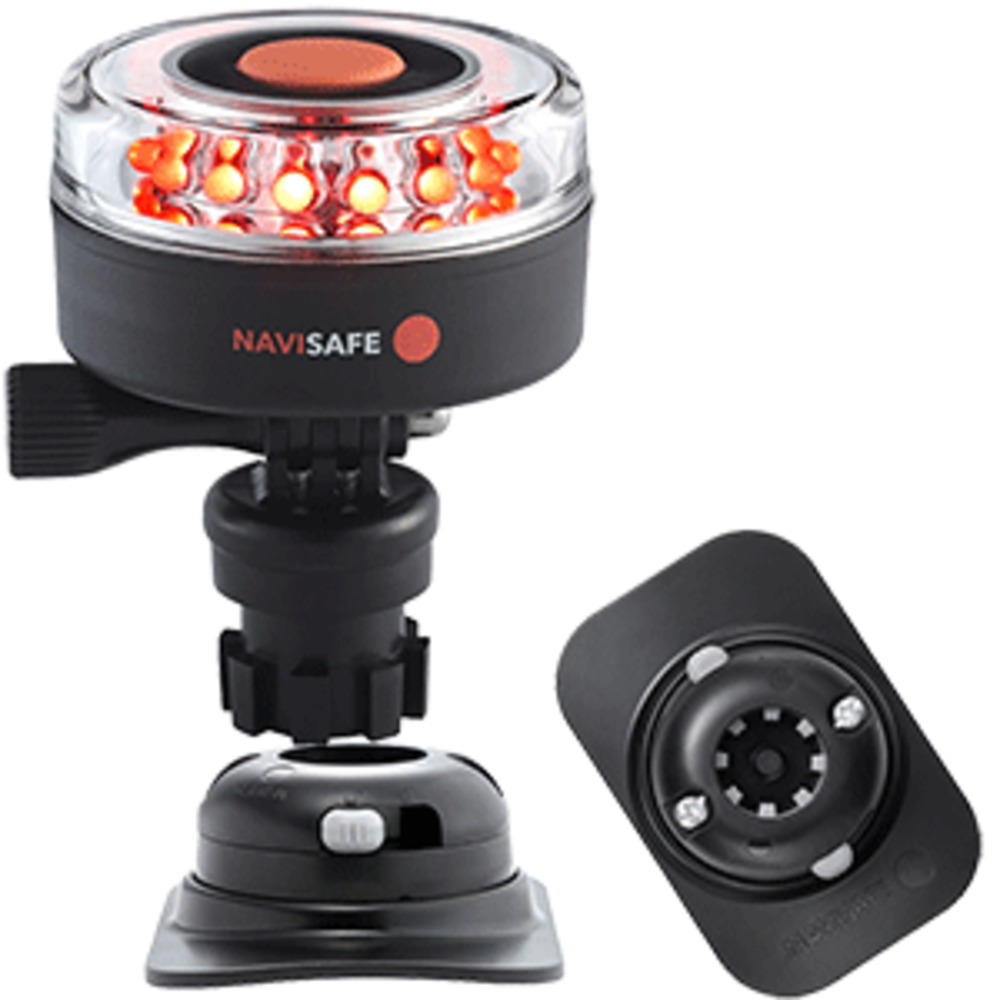 Primary image for Navisafe Navilight All RED 360° 2NM w/Navimount Base & RIB Mount - Black
