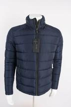 Zara Man Mens Puffer Coat Jacket Navy Blue Water Repellent Hooded 6719/454 NWT - $95.20
