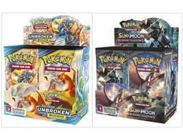 Pokemon TCG Sun & Moon Unbroken Bonds + Burning Shadows Booster Box Bundle - $219.99