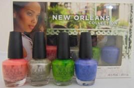 OPI Nail Lacquer Nail-Polish SET Pink Green Blue Silver New Orleans Gift... - $8.90