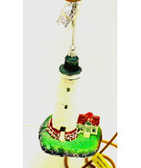 White-LED Light House Ornament-By Kurt Adler-Holiday! - $16.27