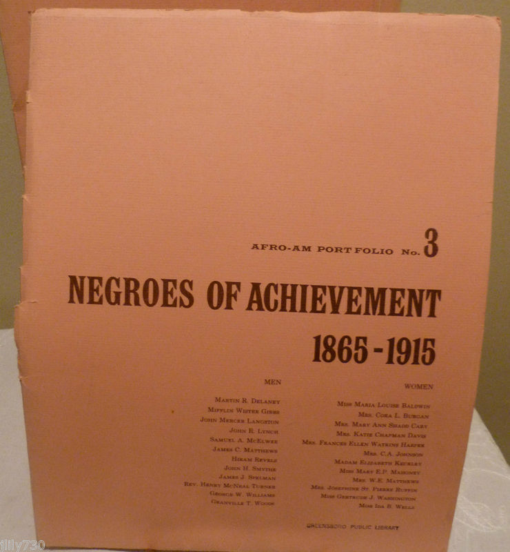 African American History Portfolio: Negroes of Achievement 1865 - 1915