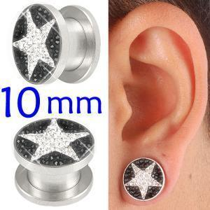 crystal tunnel 10mm ear stretcher kit piercing lot BBDX