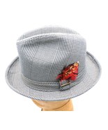 NOS Vintage Men's Hat  Stetson Trilby Fedora Olive Herringbone Plaid Rat... - $27.32