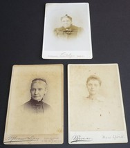 Antique Cabinet Card Photos New York Locations Lot of 3 Women Auburn NY - $4.95