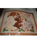CM CREWEL PICTURE KIT 16 X 20 / PUPPIES & KITTENS - $24.95