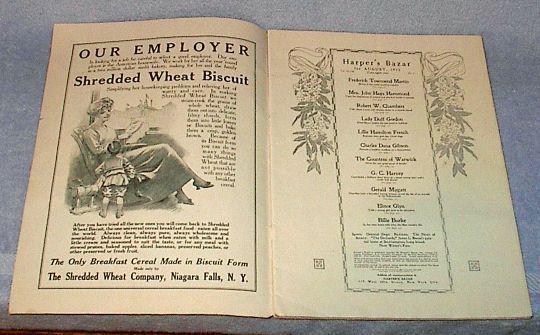 Harpers Bazar Bazaar Up Scale Ladies Fashion Magazine Aug 1913