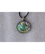Handmade Casual Cabochon Glass Pendant Necklace + Cord & Extension #BM093 - $9.99