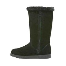 Universal Thread Women's Daniela Black Genuine Suede Faux Fur Tall Winter Boots image 2