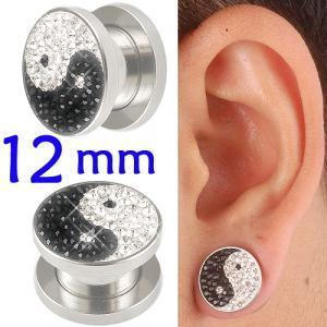 crystal tunnel 12mm ear stretcher kit piercing lot BBEB