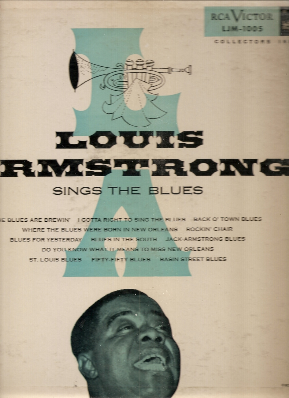 LP--Louis Armstrong – Sings The Blues