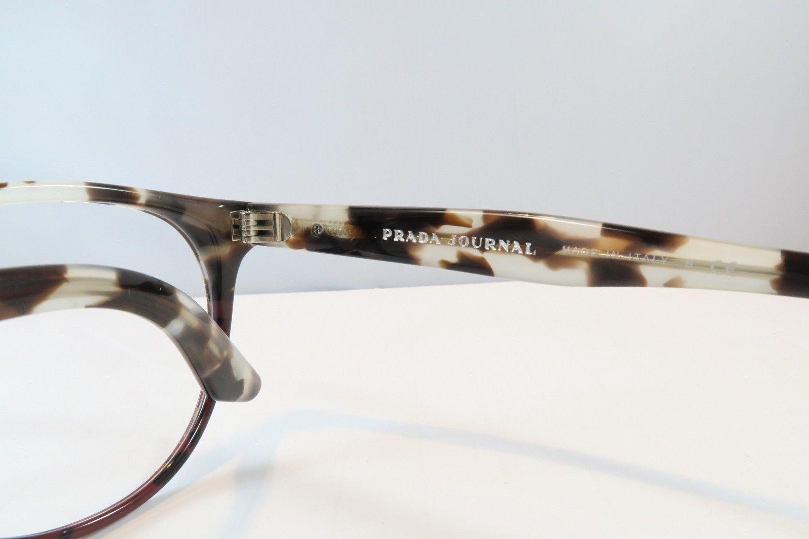 Prada Women's Tortoise Glasses with case VPR 07T-F U6P-1O1 Round 52mm