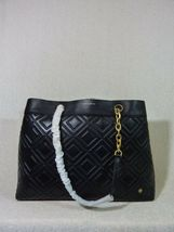 NWT Tory Burch Black Fleming Triple Compartment Shoulder Tote image 5