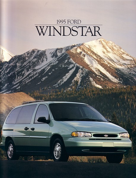 1995 Ford WINDSTAR sales brochure catalog 2nd Edition 95 US GL LX