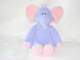 "2011 Animal Adventure Purple & Pink Elephant Ribbed Plush Toy 17"" - $13.86"