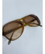 Vtg Astor Pilot 80s Eyeglasses Amber Plastic Large Frames Rose Tint Pres... - $32.68
