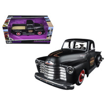 1950 Chevrolet 3100 Pickup Truck Matt Black Outlaws 1/25 Diecast Model C... - $30.87