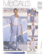 McCall's 8785 Miss Shirt Top Pull-on-Pants Pattern 8,10,12 - $8.95
