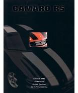 2001 Chevrolet SLP CAMARO RS sales brochure sheet Chevy - $10.00