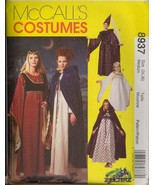 Uncut Size M Bust 34 36 Medieval Gothic Cape Dress McCalls 8937 Pattern Cosplay - £5.48 GBP