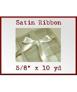 Ivory Cream Satin Sgl Face Polyester Ribbon 5/8... - $2.75