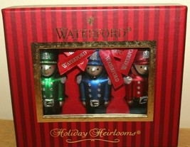 Waterford Holiday Heirlooms Toy Soldier Ornaments Set of 3 Christmas 138223 - $25.07