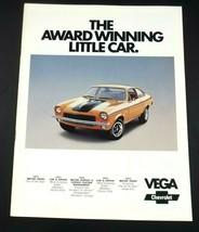 Chevrolet 1973 Vega Notchback LX Hatchback Estate Kammback GT Brochure Original - $19.99