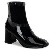 "Sexy 3"" High Heel Gogo Dancer Black Ankle Boots Halloween Costume Shoes - $39.85"