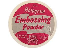 Fun Stamps-Hologram-Embossing Powder-Sparkling White image 2