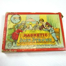 Antique 1920 Magnetic Jack Straws Game Milton Bradley 4822 w/ Original Box - $49.99