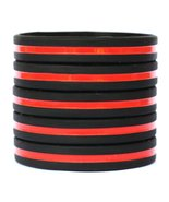 100 Adult Thin Red Line Wristbands - $56.31