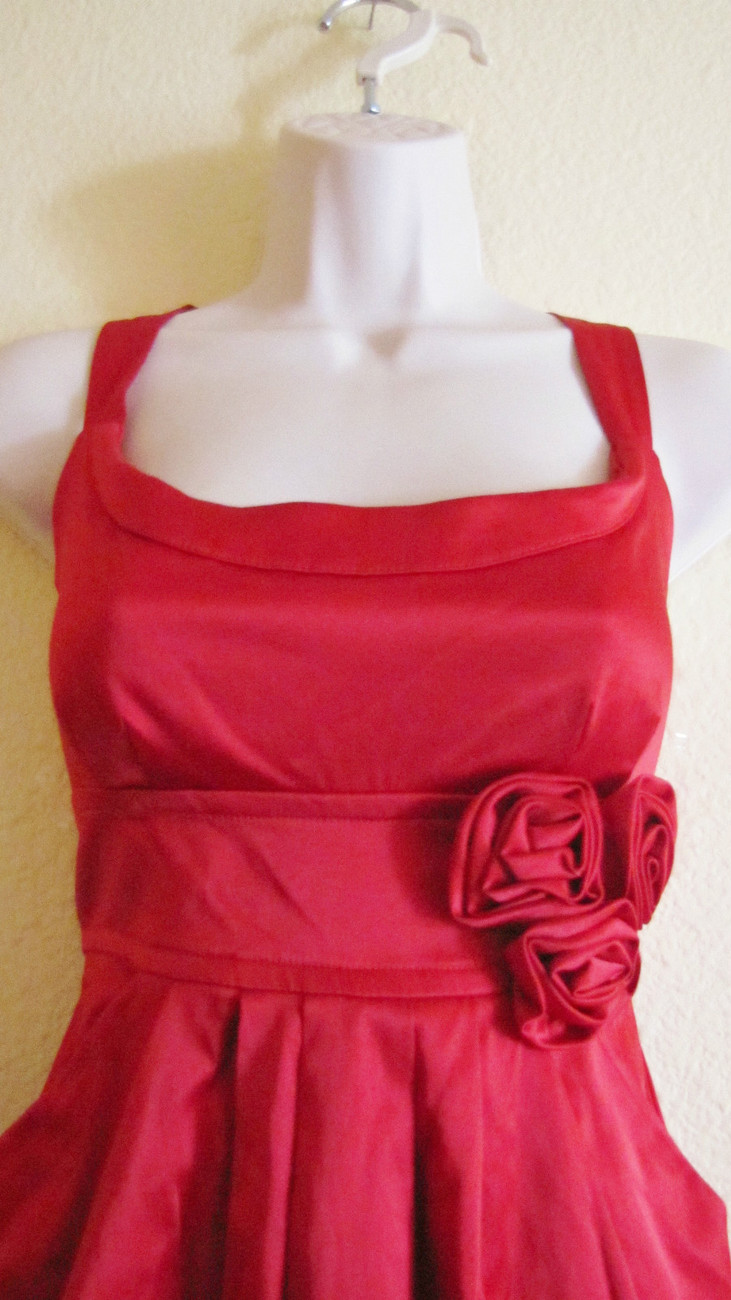 NEW WISHES WISHE WISHES COCKTAIL/PARTY/CLUB MINI DRESS, SZ 11,TRUE RED,ROSES,HOT image 2