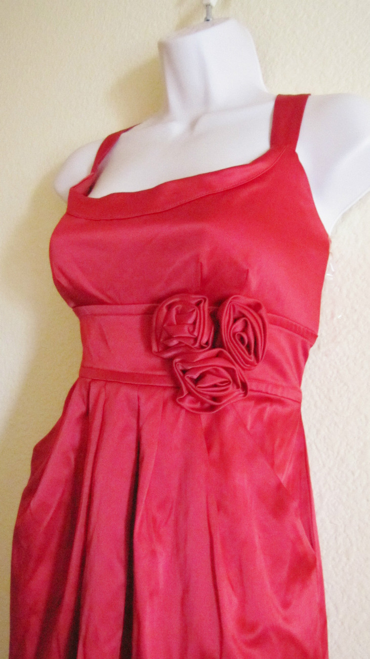 NEW WISHES WISHE WISHES COCKTAIL/PARTY/CLUB MINI DRESS, SZ 11,TRUE RED,ROSES,HOT image 3
