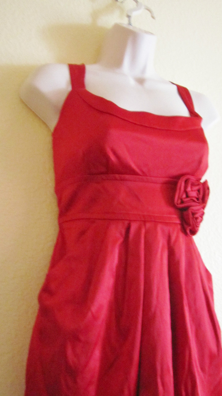 NEW WISHES WISHE WISHES COCKTAIL/PARTY/CLUB MINI DRESS, SZ 11,TRUE RED,ROSES,HOT image 4