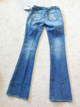 "NWT  ROCK& REPUBLIC DESIGNER MATERNITY  BOOTCUT JEANS ""TYLER"",SZ 23 ,AMPED BLUE image 3"