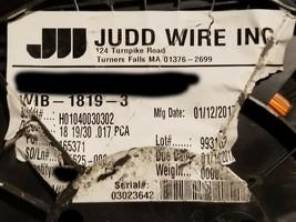 Judd Wire #18awg UL-1430 XLPVC 105C/300V AWM Hook-Up/Lead Wire Orange /1... - $29.69