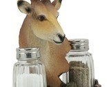 African Kalahari Grassland Kudu Antelope Salt And Pepper Shakers Holder #GFT02
