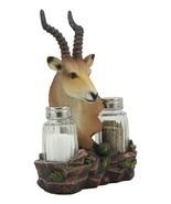 African Kalahari Grassland Kudu Antelope Salt And Pepper Shakers Holder ... - $46.17