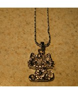 NECKLACE & PENDANT CHILDS CRYSTAL BLING! RHINES... - $8.99