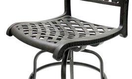 Patio Bar Stools Set of 2 Swivel Outdoor Furniture Cast Aluminum Sunbrella Seats image 6