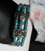 Silver Turquiose Cuff Bracelet New - $18.75