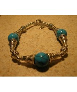 BRACELET TIBETAN SILVER BLUE HOWLITE NEW #935 - $10.99