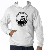 CONFUCIUS GOOD THOUGHTS - NEW COTTON WHITE HOODIE - $38.05