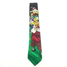 Addiction Funny Christmas Tie Golfing Santa with Elves Necktie image 3