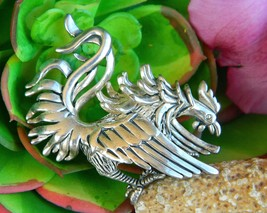 Fighting Gamecock Rooster Silver Tone Pendant Brooch Pin USC Carolina - $27.95