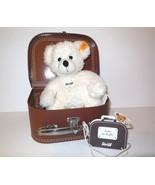 "Steiff Germany new Teddy Bear Lotte w Suitcase Koffer 28cm 11"" Plush Whi... - $49.00"
