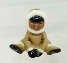 """Vintage Miniature Eskimo 1 1/4"""" Figurine Hagen Renaker  Excellent Shape  T100 - $16.34"""