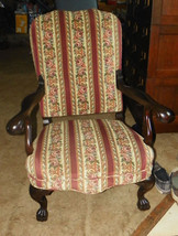 Mahogany Carved Karpen Armchair Parlor Chair - $723.10