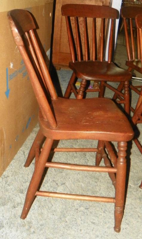 Set of 4 Elm Slab Seat Farmhouse Chairs Sidechairs