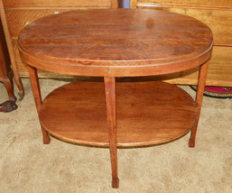 Oval Solid Quartersawn Oak Parlor Table Center Table - $483.18